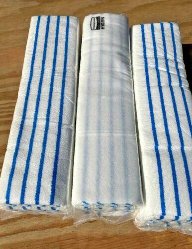Rubbermaid 2134282 HYGEN Microfiber Pad, White/Blue, 150 Pack