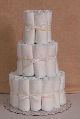 3 Tier Diaper Cake Undecorated Plain Baby Shower Centerpiece