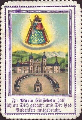 Maria Einsiedeln Wallfahrt Heiligenbild Andenken Österreich Koloriert (B-8096
