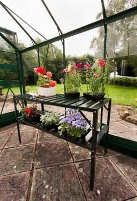 Greenhouse Aluminium Staging | Halls Slatted Staging in Green for sale  Alfreton