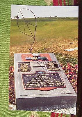 WOODSTOCK MUSIC and ARTS FAIR Monument POSTCARD 1994 YASGUR'S FARM