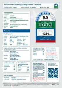Accredited 6 Star Energy Ratings