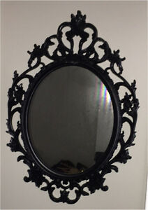 Ornate black Mirror RRP$59.95 Golden Grove Tea Tree Gully Area Preview