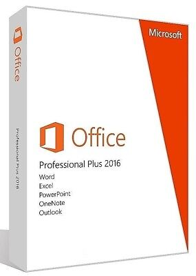 Microsoft Office 2016 Professional Plus Vollversion 5 PC/Laptop (x64)