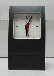 FREE SHIP!!! Analog Desk Mantel Shelf Clock Battery Operated Black Plastic Case