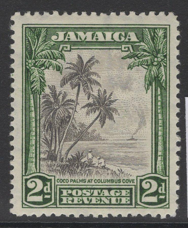 JAMAICA SG111 1932 2d BLACK & GREEN MTD MINT