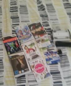 Wii with 8 games