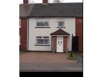 3 Bed Mid Town House for rent.Large Front Drive and Garden. Thackeray Gardens Bootle/ Litherland