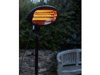 La hacienda quartz standing outdoor heater