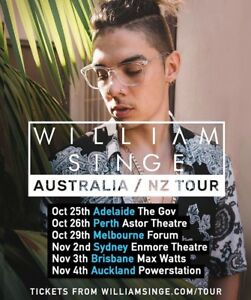 WILLIAM SINGE TICKETS Sydney City Inner Sydney Preview