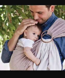 Hug a Bub Organic Ring Sling Sand/Stone The Vines Swan Area Preview