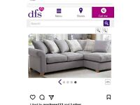 Grey corner sofa from dfs excellent condition