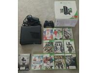 Xbox 360 250gb, wireless controller and games