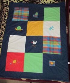 Mothercare embroidered cot bed Quilt