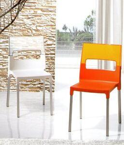 Sedia sedie poltrone tavoli cucina cucine metallo tavolo moderne moderna new ebay - Sedie cucina ebay ...