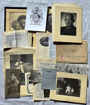 Dokumenten-, Fotokonvolut Familien Arthur Schieck & Böttcher Frankenberg Zigarre