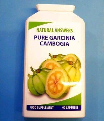 Pure Garcinia Cambogia Clean Pure Detox Capsules Weight Loss Diet 90 Capsules