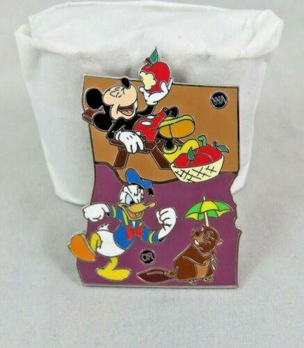 Disney Pin - American Adventure - Washington / Oregon - Mickey Mouse Donald Duck