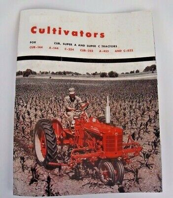 Ih Mccormick Farmall Cub C Super A Cultivator Color Sales Brochure 1 2 4 6 Row