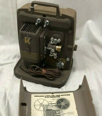 Vintage Keystone 100G 8mm Film Projector tested, clean Very Nice Condition