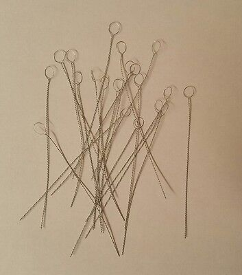 """20 Collapsible Beading Needles Fine 3"""" long ..Perfect For Seed Beads"""