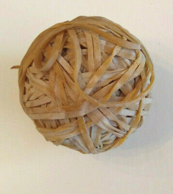 Handmade Rubber Band Ball 3 9.5 Inch Circumference Very Old Fun Item