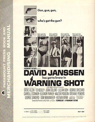 JOAN COLLINS - DAVID JANSSEN - Vintage US Pressbook WARNING SHOT 1966 C#81
