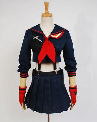 KILL la KILL Ryuko Matoi Cosplay Schul Uniform Costume Kostüm Rock dress