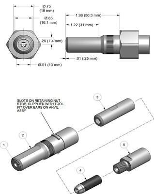 Gage Bilt 08max-752b-20 Pulling Head Installs 14 Cherrymax Style Fasteners.