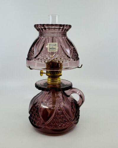Vintage Imperial Bundling Mini Miniature oil lamp Amethyst Tulip & Cane