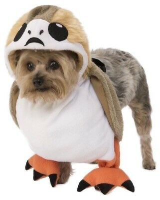 Dog Jedi Costume (Star Wars Porg Pet Dog Costume Large Halloween Outfit The Last Jedi Disney New)