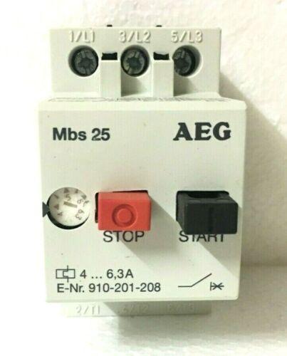 AEG MBS25 Manual Motor Starter 910-201-208-000 , 4...6,3A Ref No: 254244