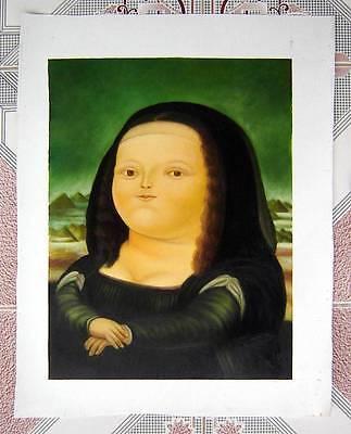 Ölbilder Ölgemälde Gemälde Botero: Monnalisa 54cmx70cm