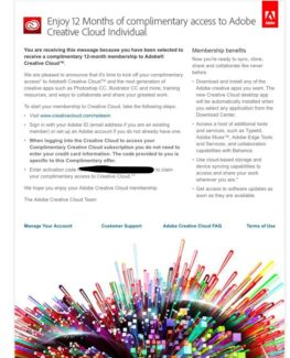 Adobe Creative Cloud 1 Year Licence