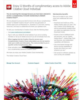 Adobe Creative Cloud Individual 12 Month Licence