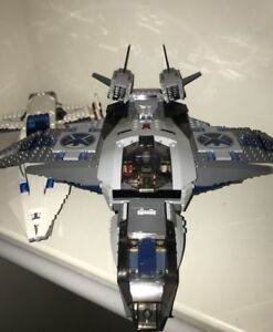 Lego Quinjet and Javelin planes