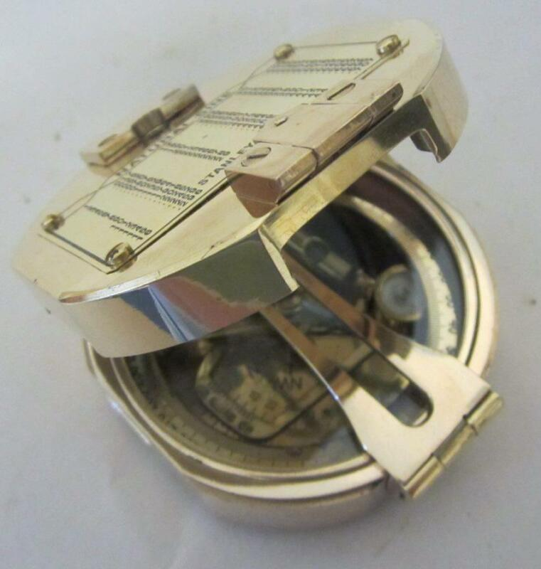 Brass Compass - Natural Sine Stanley London