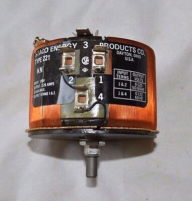 Staco Energy Products Co. 221-kn Variable Transformer 1 T