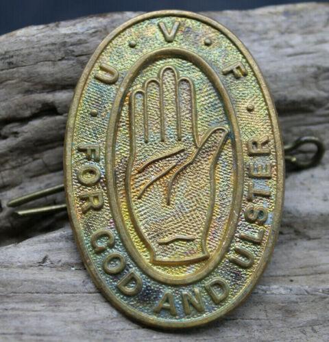WW1 UVF FOR GOD AND ULSTER PIN BADGE HAND LOYALISTS IRISH NORTHERN IRELAND -J2V1