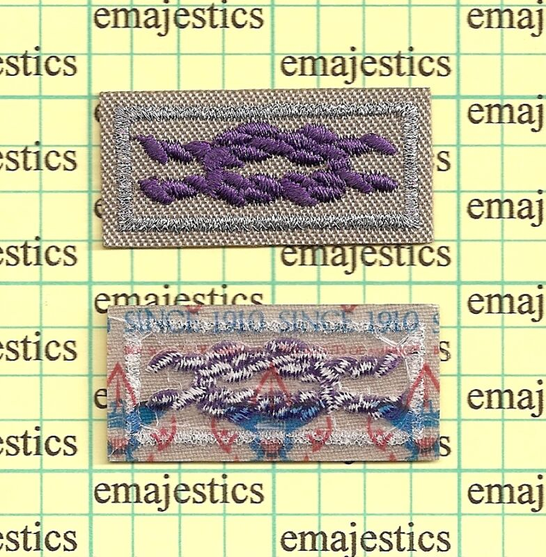 BSA ADULT RELIGIOUS AWARD SQUARE KNOT MINT PATCH CURRENT SINCE 1910 BACK