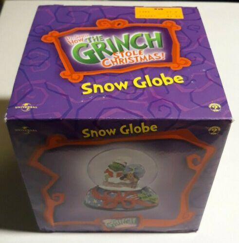 How the Grinch Stole Christmas! SNOW GLOBE (2001) Dr. Seuss Holiday - Original