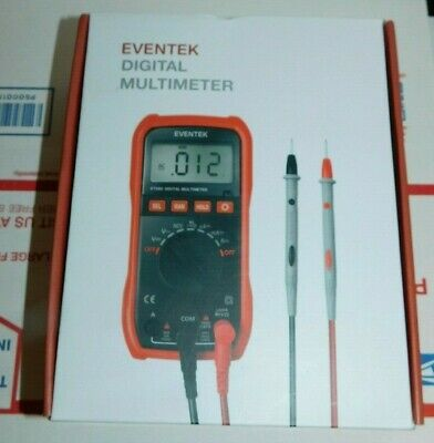 Eventek Digital Multimeter Lcd Auto Ranging Multi Meter Portable Tester Et 580
