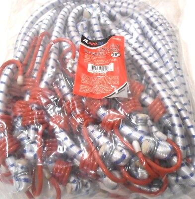 Bungee Cord Heavy Duty 12 Pc. Set 36 Inch 3 Ft. Red Tip Tie Down Strap