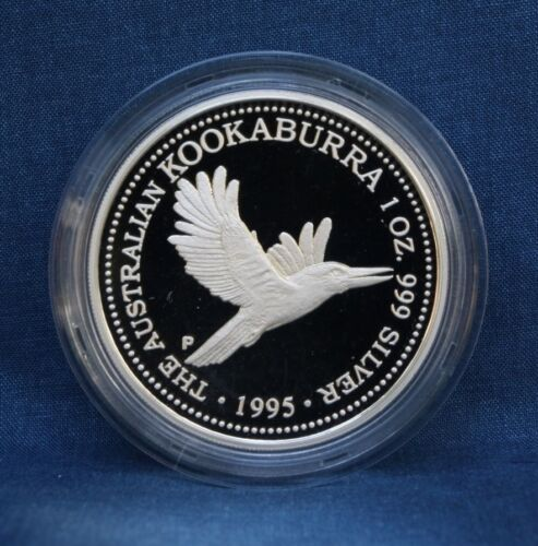 1995 AUSTRALIA KOOKABURRA 1 OZ. PROOF - WITH CASE AND COA