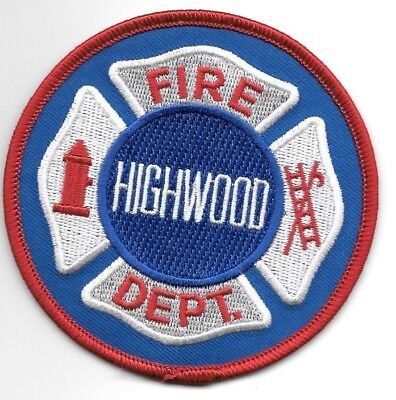 """Highwood  Fire Dept., Illinois (3.5"""" round size) fire patch"""