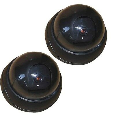 2 pack Dummy Fake Security CCTV Dome Camera without Flashing Red LED Light