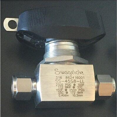 Swagelok Ss-45s8-ll Ball Valve 2500 Psig Tube Fitting