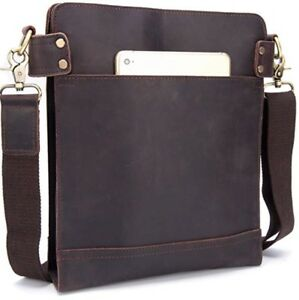 Men Vintage Saddle Leather Crossbody Messenger bag