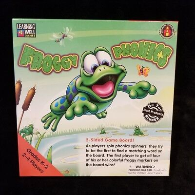 Froggy Phonics Game - BRAND NEW SEALED Froggy Phonics 2-Sided Game Board