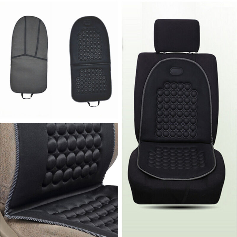 1x Car SUV Black Cushion Therapy Massage Padded Bubble Foam Chair Seat Pad Cover